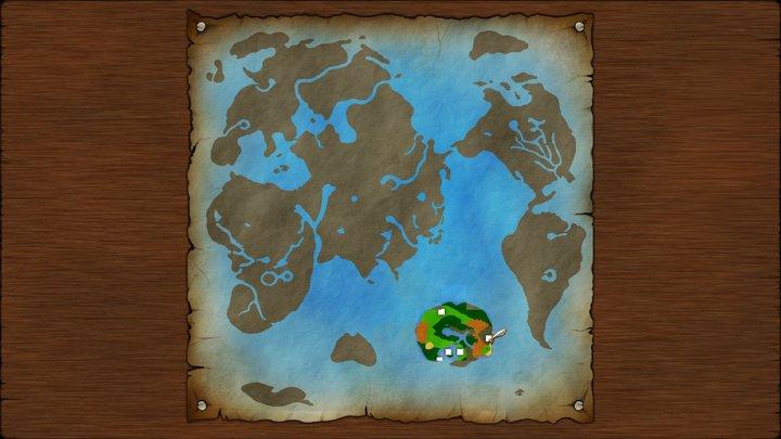 ドラクエ3 世界地図